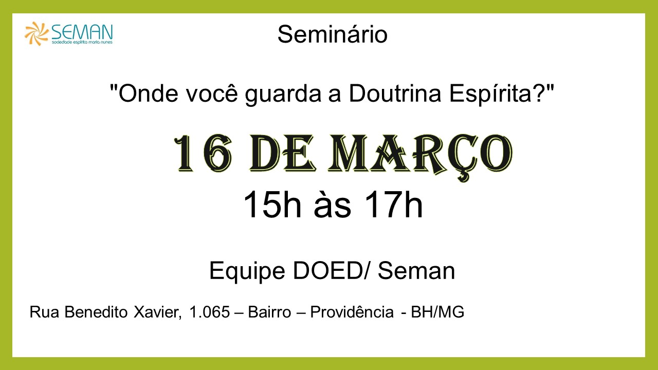 seminario 16 de março